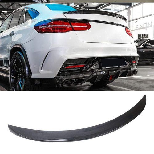NINTE Trunk Spoiler - Painted ABS Carbon Fiber Coating Wing For 2016-2019 Mercedes Benz C292 GLE Class GLE43 GLE63 Coupe