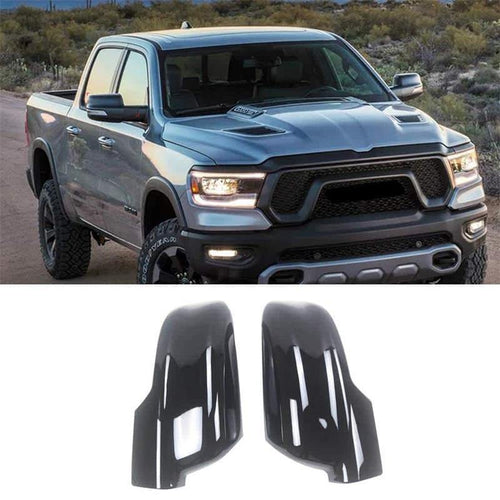 NINTE ABS Side Mirror Covers W/Turn Signal Cut-Outs For 2019 2020 Dodge Ram 1500 - NINTE
