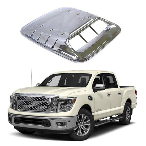 NINTE 3D Chrome Universal Car ABS Vents Decorative Air Flow Intake Hood Scoops Ventilation Cover - NINTE