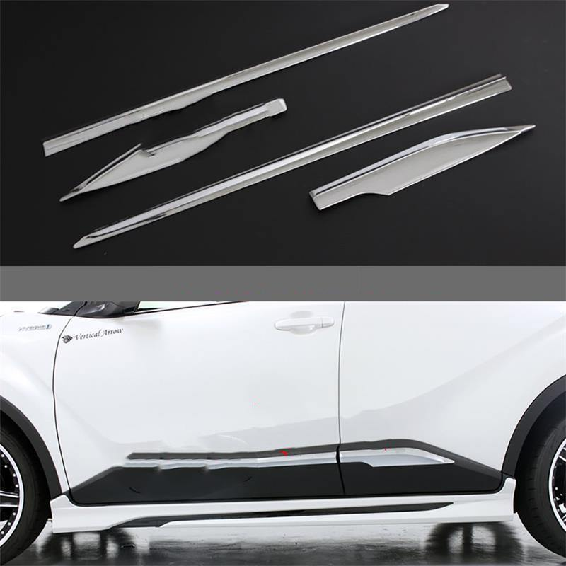 NINTE Toyota C-HR 2017-2019 4 PCS ABS Chrome Side Molding Guard Cover - NINTE