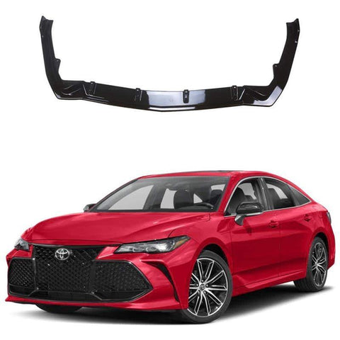 NINTE Front Lip Painted Gloss Black PP Front Bumper Spoiler Splitter Wing 3pcs For Toyota 2019 Avalon - NINTE