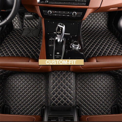NINTE Custom Fit All Weather 3D Covered Leather Car Carpet FloorLiner Floor Mats For Lexus ES - NINTE