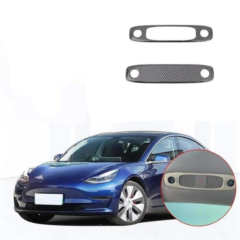 NINTE Tesla Model 3 2017-2019 Front Plus Rear Seat Upper Roof Reading Lights Lamp Cover - NINTE
