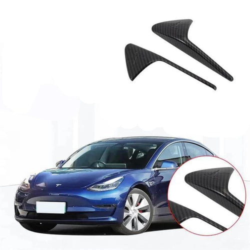 NINTE Side Fender Marker Cover Side Grille Trim For Tesla Model 3 2017-2019 - NINTE