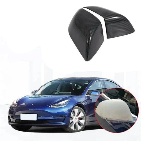NINTE ABS Side Door Wing Mirror Covers Trim For Tesla Model 3 2017-2019 - NINTE