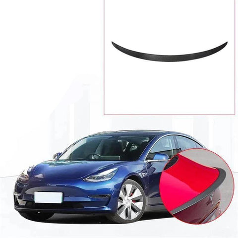 NINTE Carbon Fiber Rear Trunk Wing Spoiler Cover Trim For Tesla Model 3 2017-2019 - NINTE