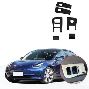 NINTE Car Interior Window Lift Switch Button Panel Cover For Tesla Model 3 2017-2019 - NINTE