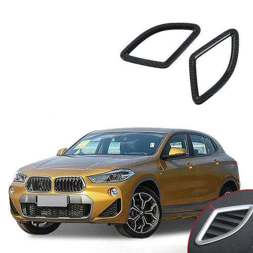 NINTE ABS Plating Style Dashboard Ac Outlet Vent Cover Trim For Bmw X2 2018 - NINTE