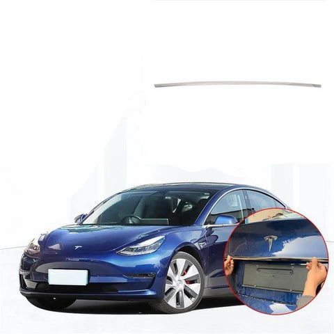 NINTE Accessory Rear Tail Trunk Door Lid & Upper Tailgate Overlay Strip Cover Trim For Tesla Model 3 2017-2019 - NINTE