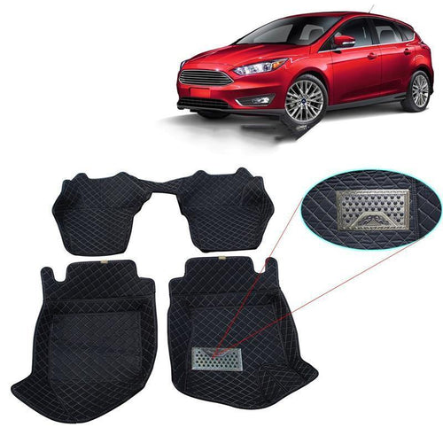 NINTE Custom Fit All-Weather 3D Covered Car Carpet Floor Liner Floor Mats For Ford Focus 2012-2016 - NINTE