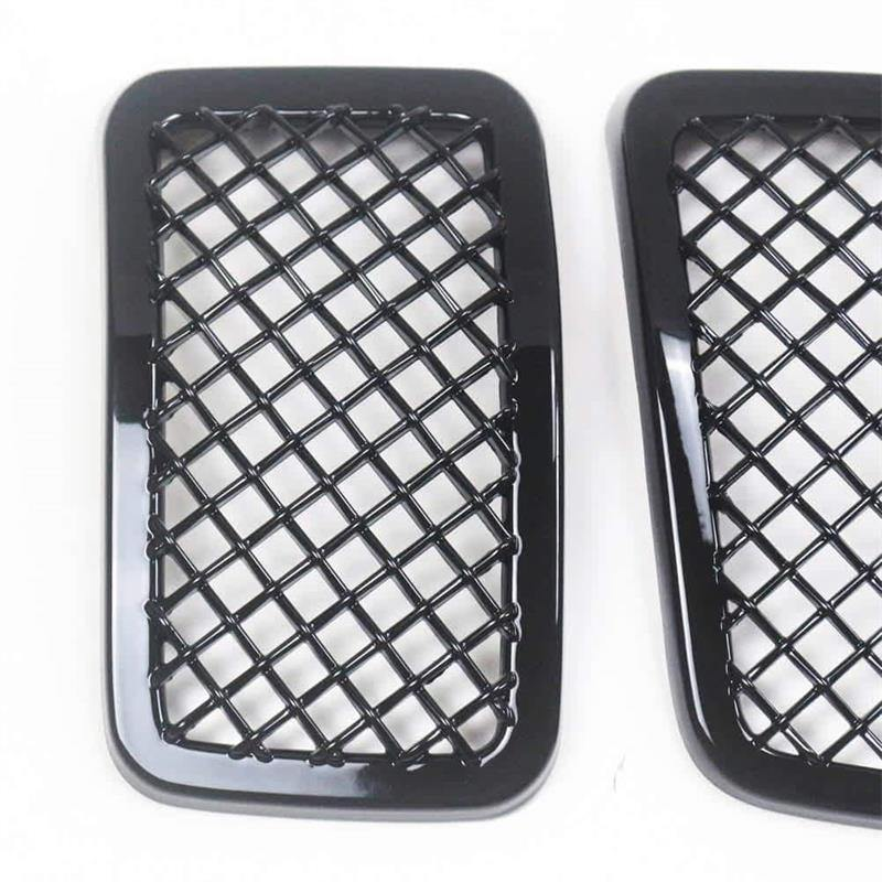 Ninte Jeep Cherokee 2019-2020 7 PCS ABS Front Mesh Grill Cover-Painted Gloss Black Grille - NINTE