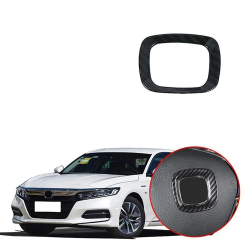 NINTE Steering Wheel Middle Logo Cover Trim for 2018 19 Honda Accord - NINTE