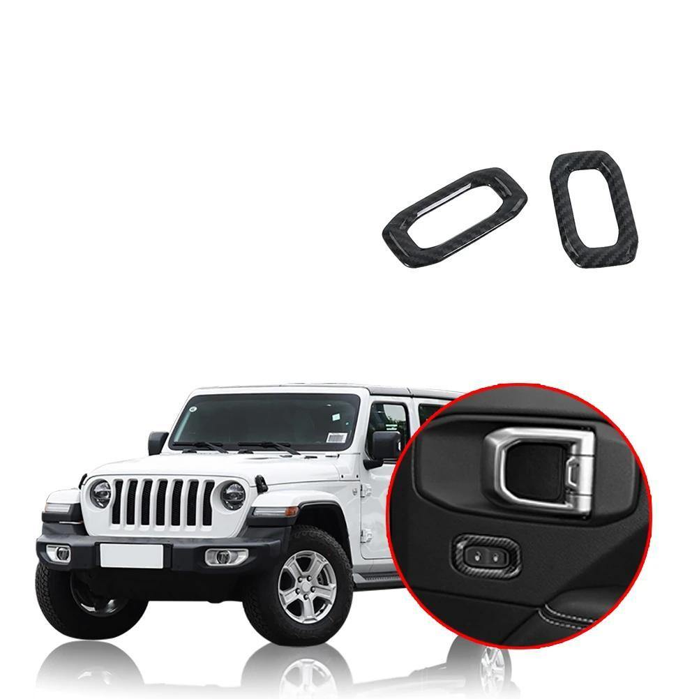 Ninte Jeep Wrangler JL 2018-2019 Door Lock Switch Button Cover Decoration - NINTE