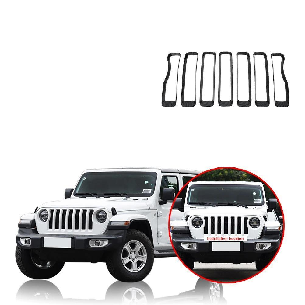 Ninte Jeep Wrangler JL 2018-2019 Front Insert Grille Cover Decoration - NINTE