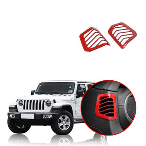 NINTE Car Dashboard Side Air Conditioning Vent Outlet Decoration Cover Sticker For Jeep Wrangler JL 2018 2019 - NINTE