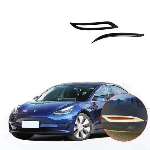 NINTE Rear Tail Fog Light Lamp Frame Cover Trim For Tesla Model 3 2017-2019 - NINTE