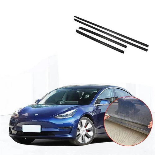 NINTE Body Door Side Molding Guard Cover Trims For Tesla Model 3 2017-2019