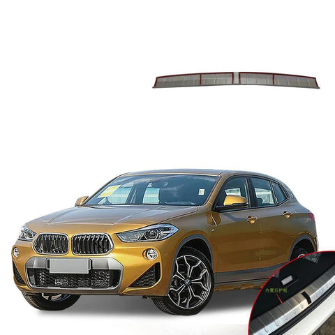 NINTE Car Accessories-Rear Inner Bumper Protector Scuff Plate Guard Cover Trim For BMW X2 2018 - NINTE