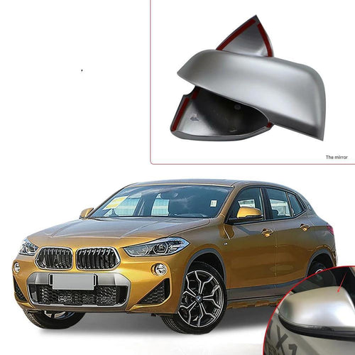 NINTE Car Accessories Outside Car Door Rearview Mirror Decoration Protector Shell Molding Cover Kit Trim For BMW X2 2018 - NINTE