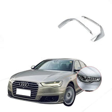 Load image into Gallery viewer, Ninte Audi A6L 2019 Chrome Front Fog Lamp Eyebrow Cover - NINTE