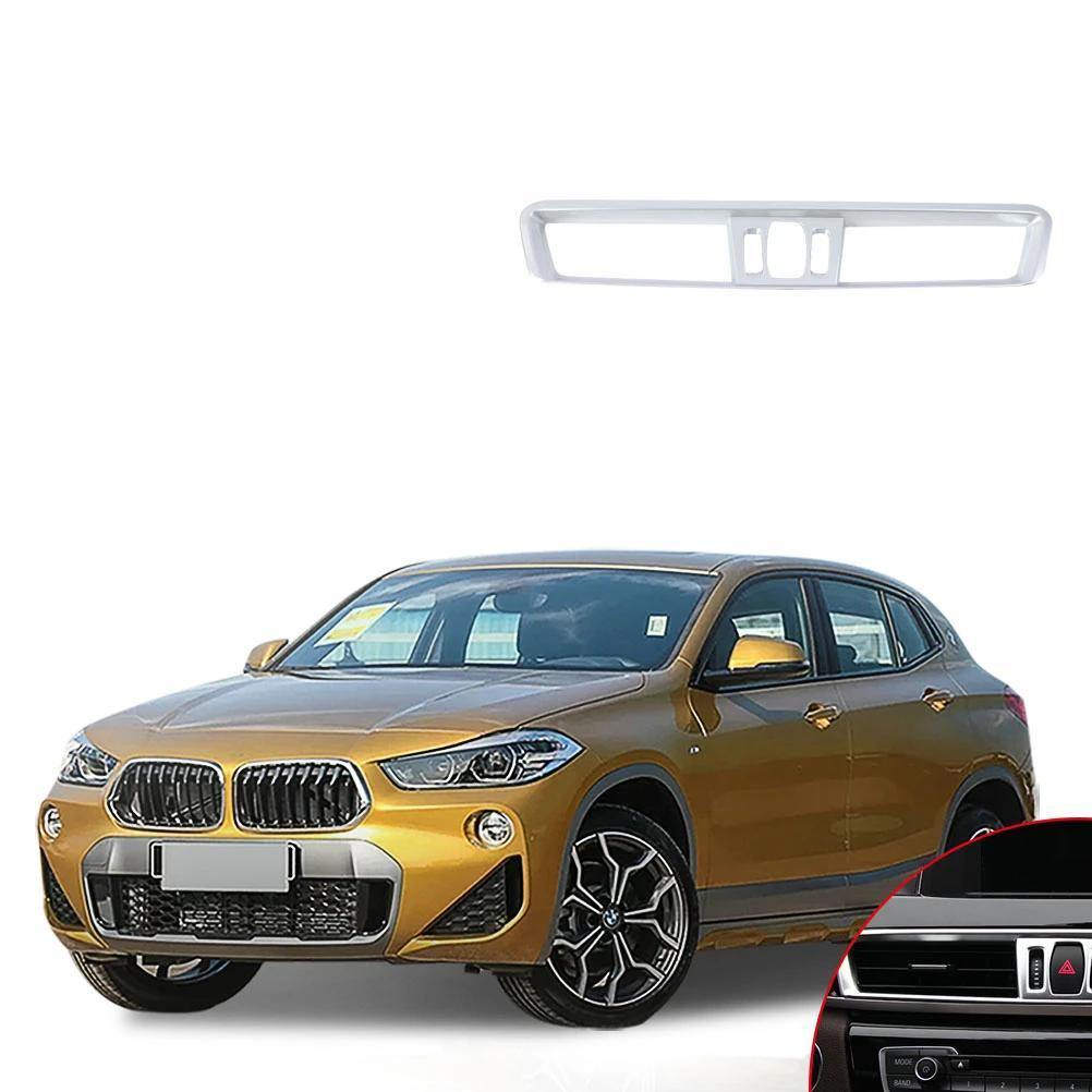 NINTE BMW X2 2018 ABS Matte Chrome Console Air-Conditioning Vent Cover - NINTE
