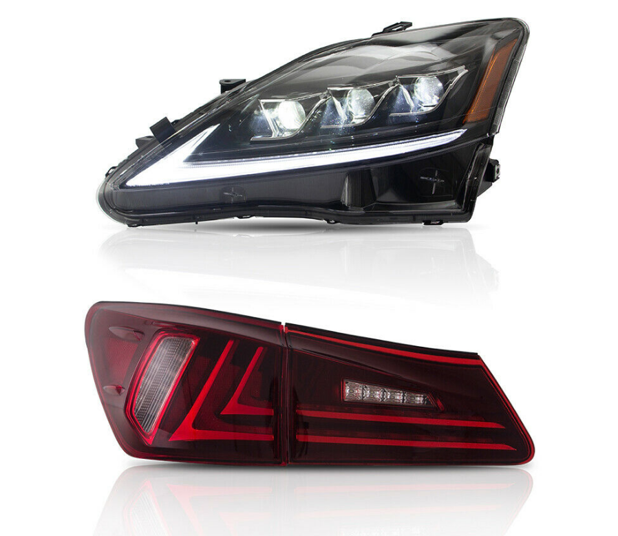 NINTE LED Headlights + Tail Lights For Lexus IS250 350 ISF 2006-2012 2 Pair - NINTE