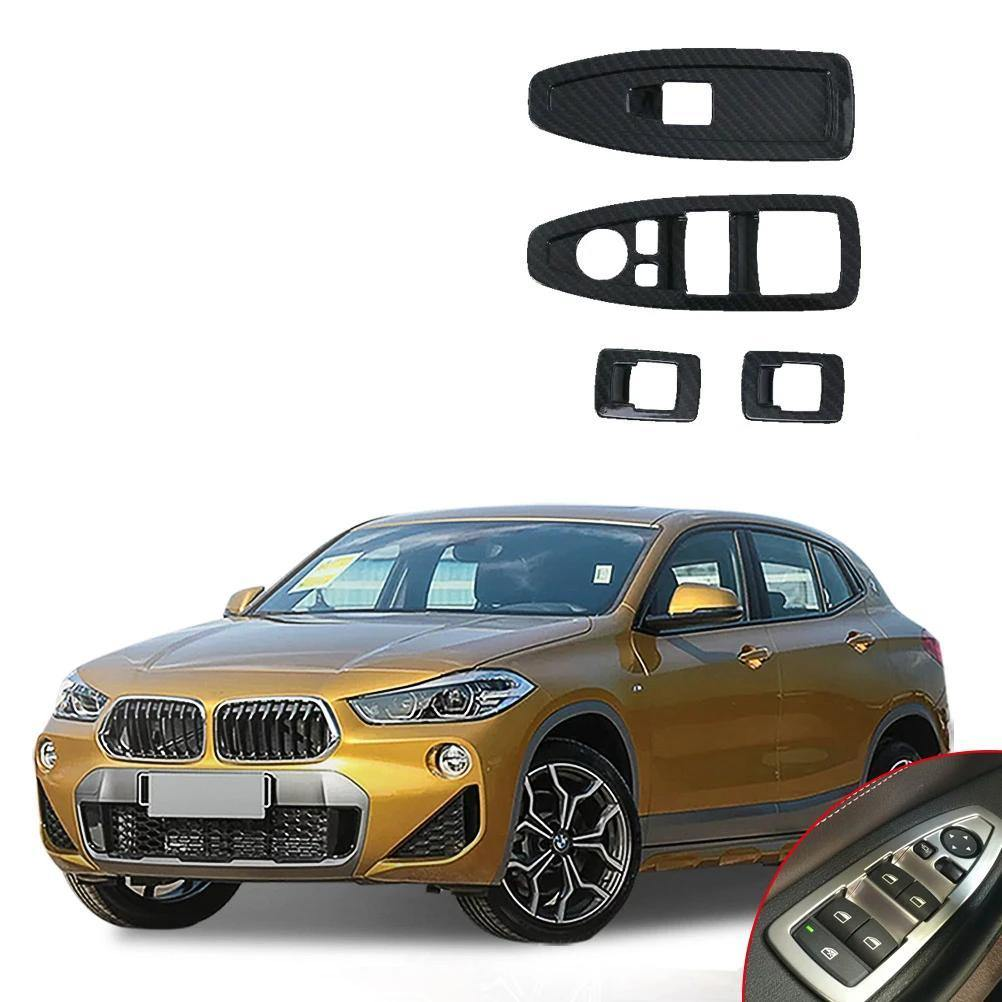 Ninte BMW X2 2018 4 PCS Style Window Lift Switch Frame Trim - NINTE