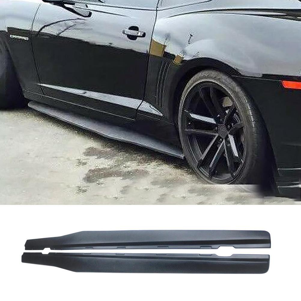NINTE Camaro 10th 2010-2015 ABS Material Unpainted Side Body Skirts Kit Cover Trim Frame - NINTE