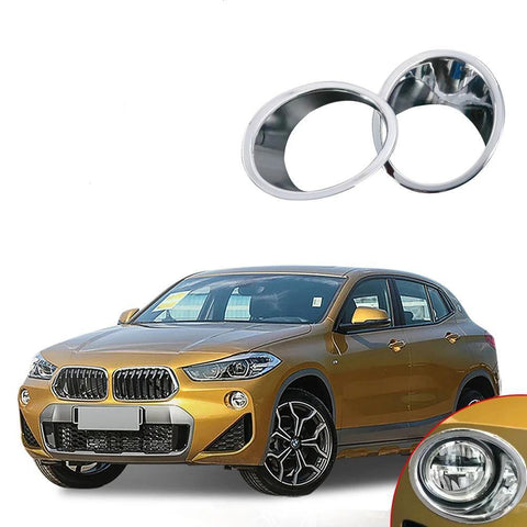 NINTE 2pcs ABS Chrome Car Accessories Front Fog Light Lamp Frame Cover Trim For BMW X2 2018 - NINTE