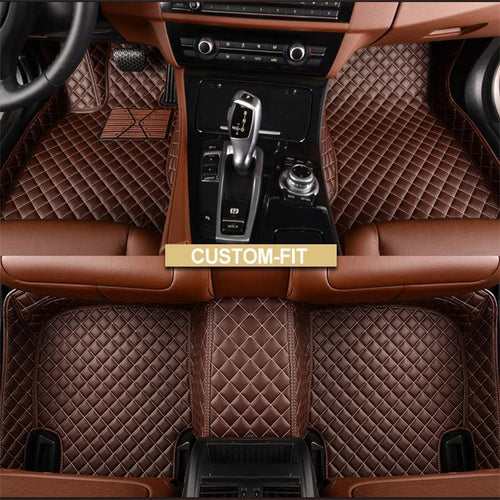 NINTE Custom Fit All Weather 3D Covered Leather Car Carpet FloorLiner Floor Mats For Toyota Camry 2018-2019 - NINTE