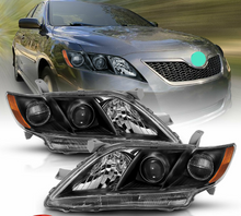 Load image into Gallery viewer, For 2007-2009 Toyota Camry Black Factory Style Projector Headlights Pair - NINTE
