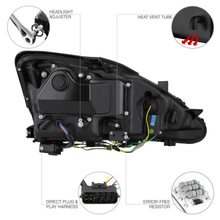 Load image into Gallery viewer, For 2006-2013 Lexus IS250 IS350 LED Strip DRL LED Headlights Assembly Left+Right - NINTE