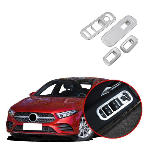 NINTE Car Window Interior Trim Lift Switch Control Bezel Button Panel Cover Trim Fit for Mercedes-Benz New A-Class A220 W177 2019 - NINTE