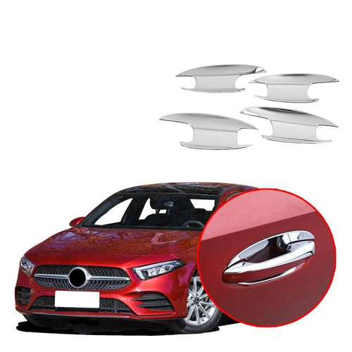 NINTE Car Door handle cover door bowl trim frame Sticker Accessories For Mercedes-Benz A-Class 2019 W177 V177 - NINTE