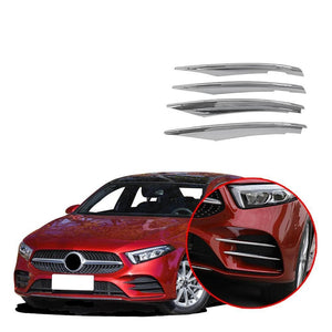 NINTE Front Fog Mesh Cover Trim Fit for Mercedes-Benz New A-Class A220 W177 2019 - NINTE