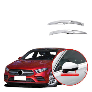 NINTE Rear view Mirror Side Molding Guard Trim Fit for Benz New A-Class A220 W177 2019 - NINTE