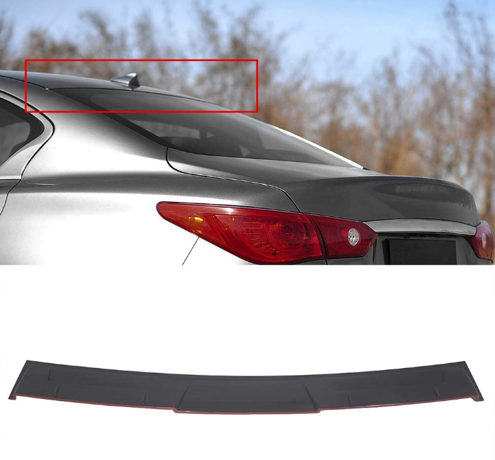 NINTE Infiniti Q50 M Style 2014-2020 ABS Rear Window Top Roof Spoiler - NINTE