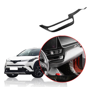 NINTE Interior Accessories Central control frame trim Stickers Covers For Toyota 2018-2019 C-HR - NINTE