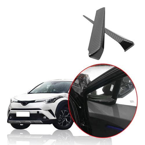 NINTE Car Carbon Fiber Interior Front A Pillar Decoration Trim Windows Stickers For Toyota C-HR C HR 2016-2019 - NINTE
