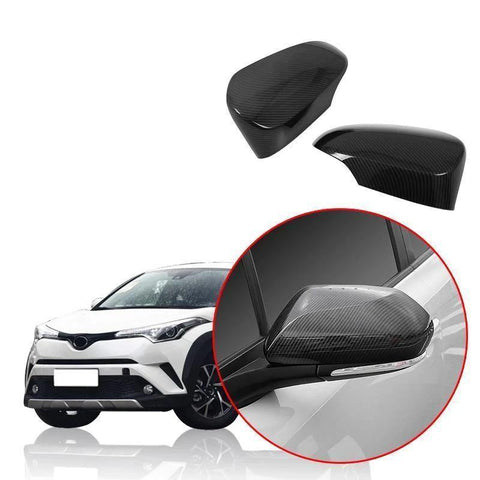 NINTE Car Rear View Side Mirror Cover Cap Trim Fit For Toyota C-HR CHR 2016-2019 - NINTE
