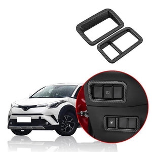 For Toyota C-HR CHR 2016-2018 ABS carbon fiber Front Grilles Grill Molding Cover