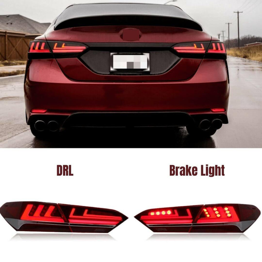 NINTE For Toayota Camry 2018-2020 LED Tail Lights Brake Turn signal Lamps Kit Assembly