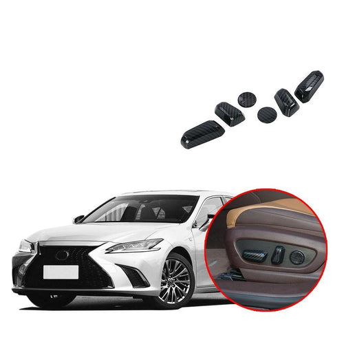 ABS Accessories Interior Car Seat Adjustment Switch Button Cover Trim 6PCS for Lexus ES NINTE - NINTE