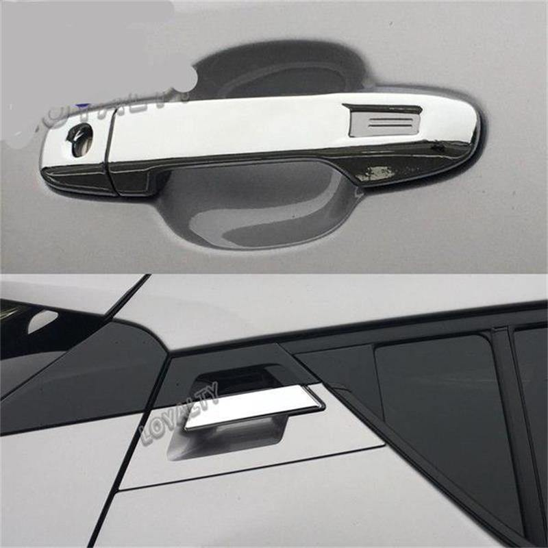 Toyota C-HR 2017-2019 6 PCS ABS Chrome Exterior Front Rear Door Handle Cover - NINTE