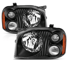 Load image into Gallery viewer, 2001-2004 Replacement Black Headlight Pair for Nissan Frontier With Hi/Lo Bulb - NINTE