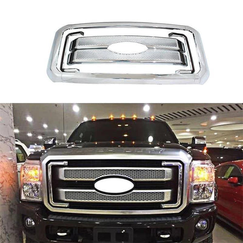 NINTE Front Mesh Grille Cover For 2011-2016 F250 F350 F450 - NINTE