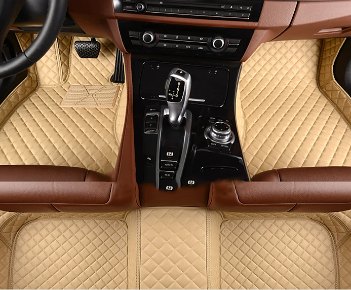 NINTE Ford F-150 2015-2019 Custom 3D Covered Leather Carpet Floor Mats - NINTE