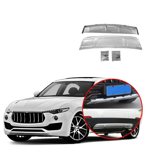 Front Rear Bumper Protector Guard Skid Plate Cover Trim for Maserati Levante 2016-2019 NINTE - NINTE