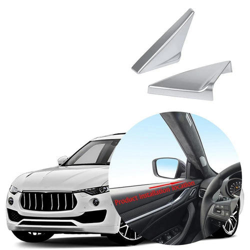 Car Interior Front Door Triangle Cover Trim For Maserati Levante 2016-2019 NINTE - NINTE