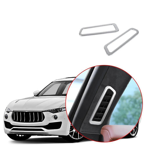 Car Interior Front Upper Air Conditioning Vent Outlet Frame Cover Decoration Trim Fit for Maserati Levante 2017-2019 NINTE - NINTE